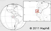 Blank Location Map of Contralmirante V