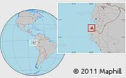 Gray Location Map of Contralmirante V