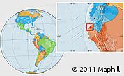 Political Location Map of Contralmirante V