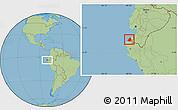 Savanna Style Location Map of Contralmirante V
