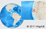 Shaded Relief Location Map of Contralmirante V