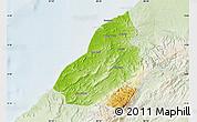 Physical Map of Contralmirante V, lighten
