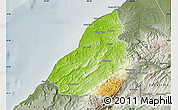 Physical Map of Contralmirante V, semi-desaturated