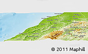 Physical Panoramic Map of Contralmirante V