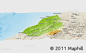Physical Panoramic Map of Contralmirante V, shaded relief outside