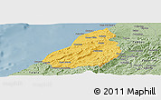Savanna Style Panoramic Map of Contralmirante V