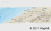 Shaded Relief Panoramic Map of Contralmirante V