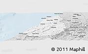 Silver Style Panoramic Map of Contralmirante V