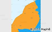 Political Simple Map of Contralmirante V