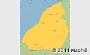 Savanna Style Simple Map of Contralmirante V