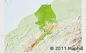 Physical 3D Map of Tumbes, lighten