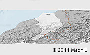 Gray Panoramic Map of Tumbes