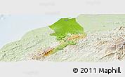 Physical Panoramic Map of Tumbes, lighten