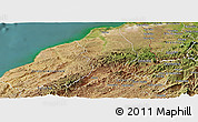 Satellite Panoramic Map of Tumbes