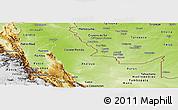 Physical Panoramic Map of Ucayali
