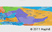 Political Shades Panoramic Map of Ucayali