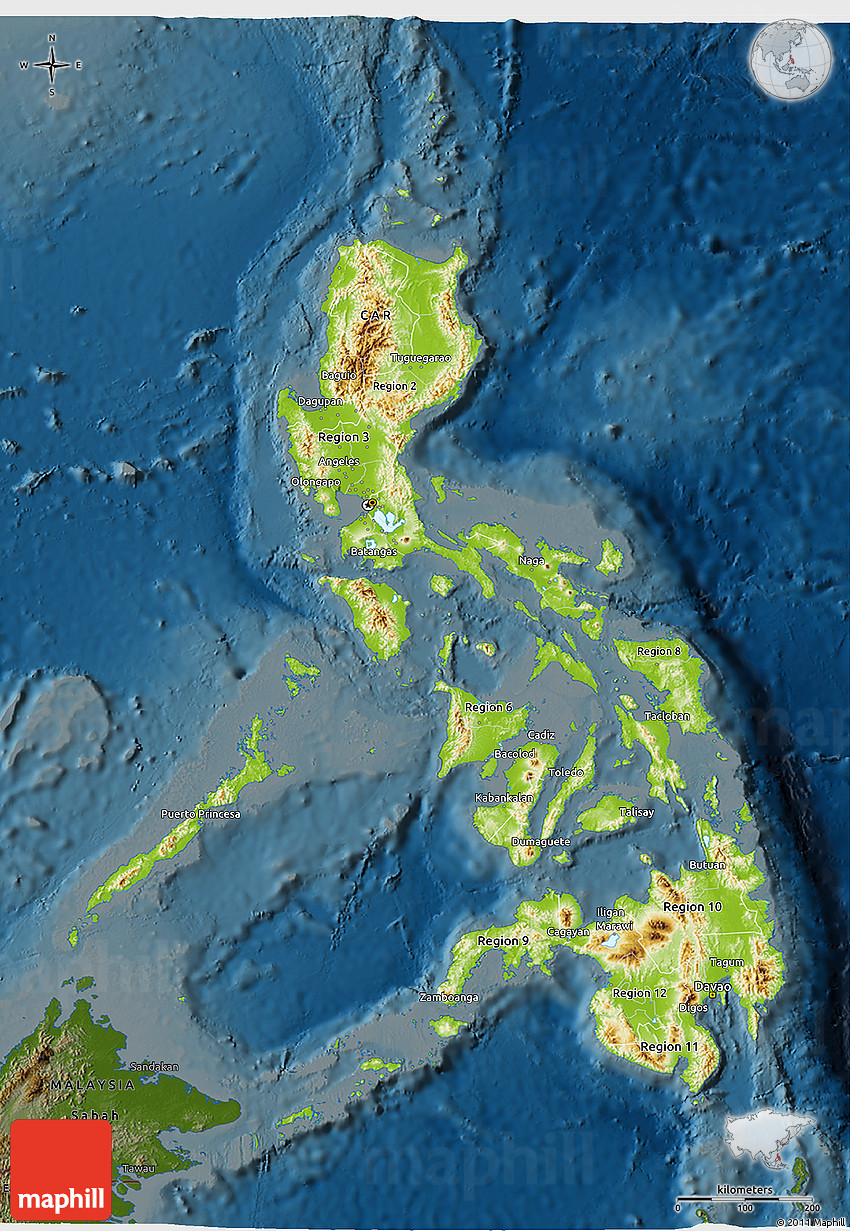 Physical 3d map of philippines darken gumiabroncs Image collections