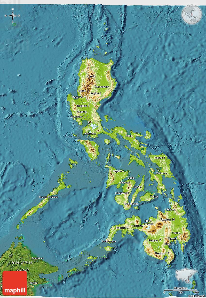 3d philippine map