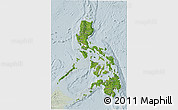 Satellite 3D Map of Philippines, lighten