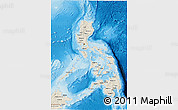 Shaded Relief 3D Map of Philippines