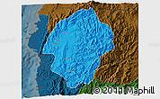 Political 3D Map of Abra, darken