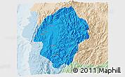 Political 3D Map of Abra, lighten