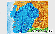 Political 3D Map of Abra
