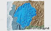 Political 3D Map of Abra, semi-desaturated