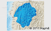 Political 3D Map of Abra, shaded relief outside