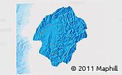 Political 3D Map of Abra, single color outside