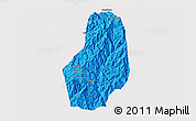 Political 3D Map of Benguet, cropped outside