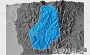Political 3D Map of Benguet, darken, desaturated
