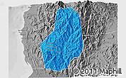 Political 3D Map of Benguet, desaturated