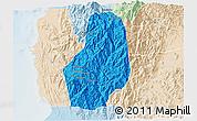 Political 3D Map of Benguet, lighten
