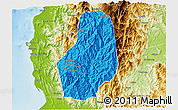 Political 3D Map of Benguet, physical outside