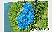 Political 3D Map of Benguet, satellite outside