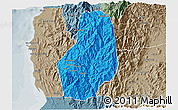 Political 3D Map of Benguet, semi-desaturated