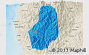 Political 3D Map of Benguet, shaded relief outside