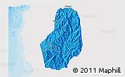 Political 3D Map of Benguet, single color outside