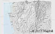 Silver Style 3D Map of Benguet