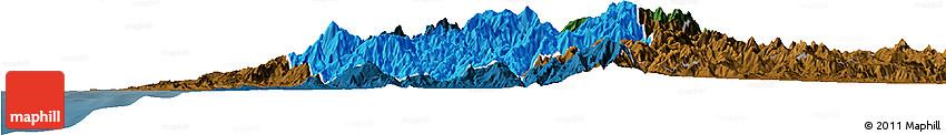 Political Horizon Map of Benguet, darken