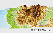 Physical Panoramic Map of Benguet