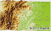Physical 3D Map of Ifugao
