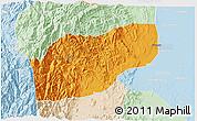 Political 3D Map of Ifugao, lighten
