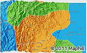 Political 3D Map of Ifugao