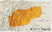 Political 3D Map of Ifugao, shaded relief outside