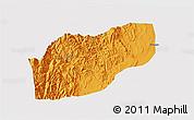 Political 3D Map of Ifugao, single color outside