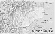 Silver Style 3D Map of Ifugao