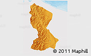 Political 3D Map of Kalinga-Apayao, single color outside