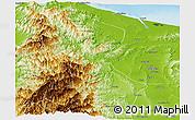 Physical Panoramic Map of Kalinga-Apayao